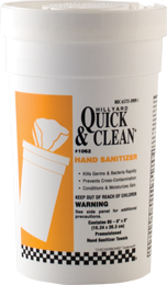 Quick & Clean® Hand Sanitizer Wipes