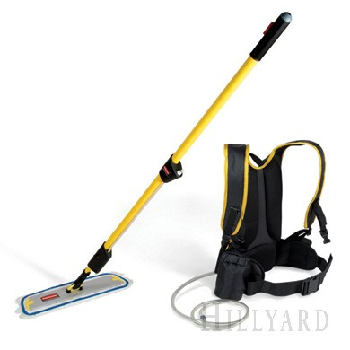 Hillyard Rubq979yw Flow Flat Finish Mop System 1 5 Gallon