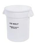 Bronco™ Round ICE MELT Container 10 Gallon - Ice Melt - White