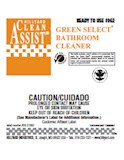 Label Ready to use #962 BATHROOM CLEANER GREEN SELECT