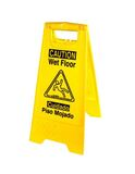 Wet Floor Sign Yellow with English/Spanish with Black Print