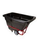 ROTOMOLDED TILT TRUCK, HEAVY DUTY, 1/2 CUBIC YARD, BLACK