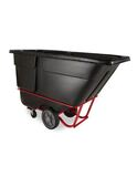 ROTOMOLDED TILT TRUCK, HEAVY DUTY, 1 CUBIC YARD, BLACK