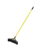 "MAXIMIZER 18"" FINE PUSH TO CENTER PUSH BROOM, PVC FILL, BLACK 6/cs"