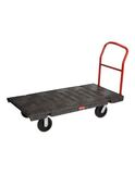 HEAVY DUTY PLATFORM TRUCK, 30 IN X 60 IN WITH 8 IN TPR CASTERS