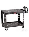 Black Flat Shelf Utility Cart 1 CS