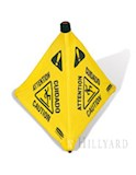 Pop-Up Safety Cone 30in. - Multi-Lingual Caution Imprint and Wet Floor